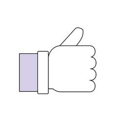 hand thumb up like symbol vector image