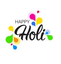 Happy holi religious india holiday traditional vector