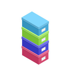 isometric paper box icon vector image