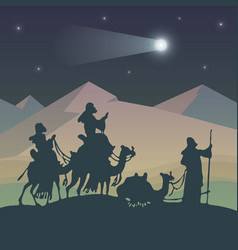 kings magi vector image