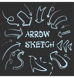 Large set hand-drawn vintage arrows form style vector