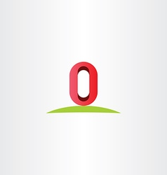 letter o zero 0 number logo icon symbol element vector image