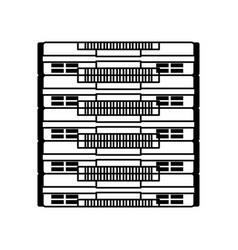line icon server cartoon vector image