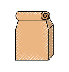 Lunch bag in paper bag vector