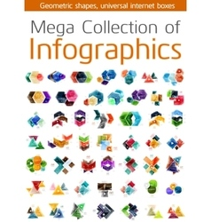 Mega collection of infographic templates vector image