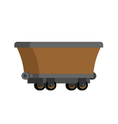 mining trolley empty isolated mining extraction vector image