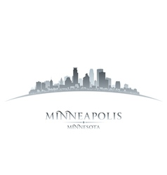 Minneapolis minnesota city skyline silhouette vector