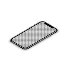 Modern isometric smartphone design isolated on vector