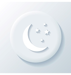 Moon 3D Paper Icon vector