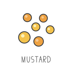 Mustard line cooking isolated vector