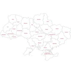 Outline ukraine map vector