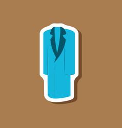 paper sticker fashion clothes long coat vector image