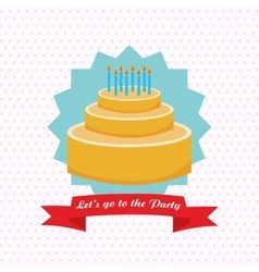 Party design Celebration icon Colorfull vector image