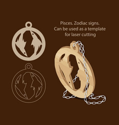 pisces zodiac signs can be used as a template vector image