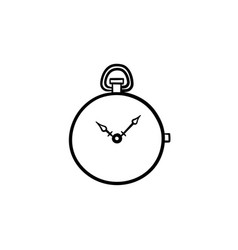 pocket watch hand drawn sketch icon vector image