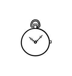 Pocket watch hand drawn sketch icon vector