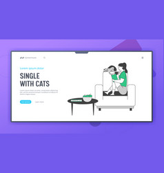 Reading books hobwebsite landing page young vector
