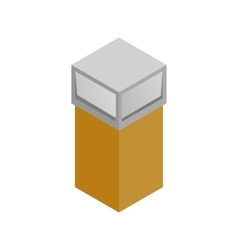 Recycle bin icon isometric 3d style vector image