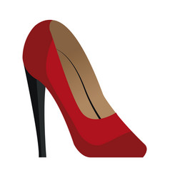 Red high heels accessory elegant vector