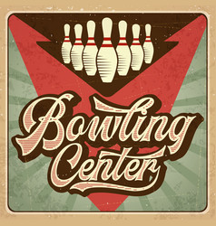 Retro advertising bowling poster vintage poster vector