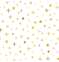 seamless pattern decoreted gold yellow vector image