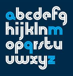 Set bold lower case alphabet letters vector
