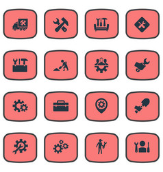 Set of simple mending icons vector