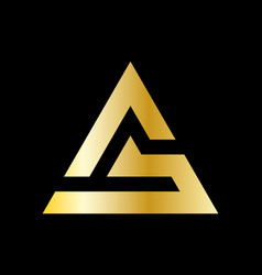 Simple triangle logo in a modern style vector
