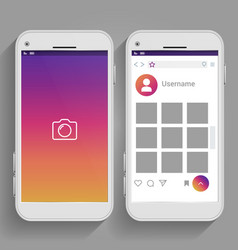 smartphones inspired and social media page vector image