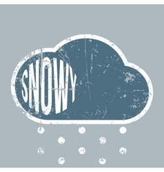 Snowy rerto scratched Background vector