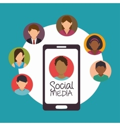 social media connection persons design vector image