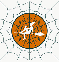 spider web for halloween design vector image