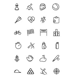 Sports Line Icons 2 vector image