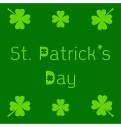St patricks day card with clover leaf vector