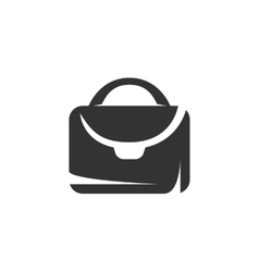 Suitcase icon isolated on white background vector
