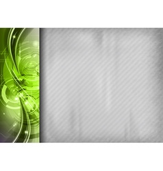 Tech background line left green vector