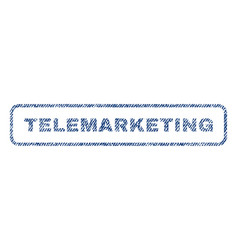 Telemarketing textile stamp vector