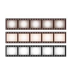 three vintage stripes five frames 35 mm film vector image