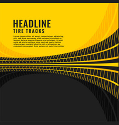 Tire track marks background design vector