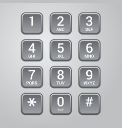 user interface keypad for phone vector image