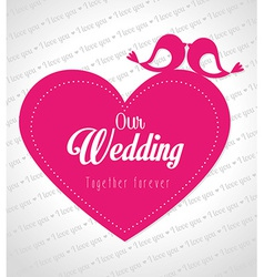 Wedding day design vector