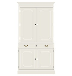 White vintage cabinet vector image