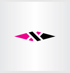 x letter logo black magenta icon element sign vector image