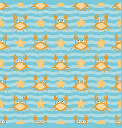 crabs and stars vector image
