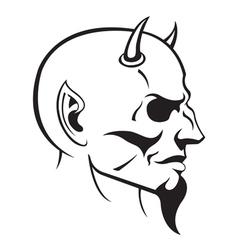 devils head profile vector image