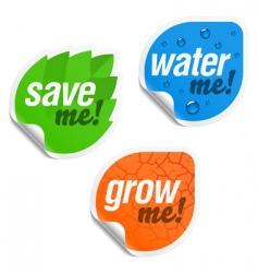 eco stickers vector image