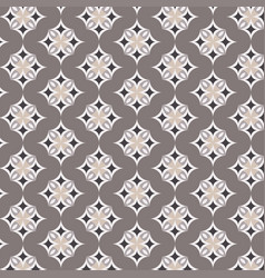 geometric pattern on brown background vector image vector image