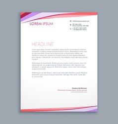modern colorful letterhead design vector image vector image