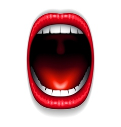 Mouth color open vector image vector image