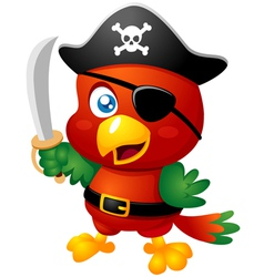 Pirate bird vector image